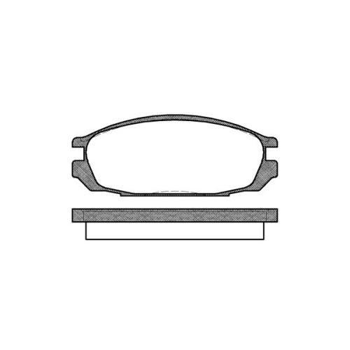Set placute frana Remsa 029200, parte montare : Punte spate