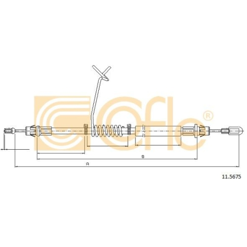 Cablu frana mana Ford Transit Cofle 115675, parte montare : stanga, spate