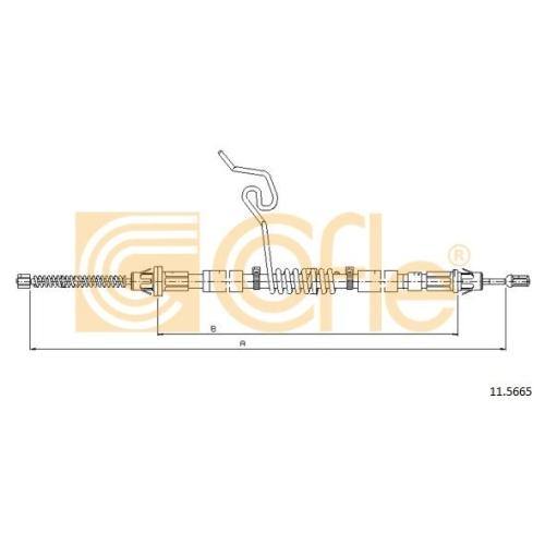 Cablu frana mana Ford Transit Tourneo, Transit (Fd) Cofle 115665, parte montare : dreapta, spate