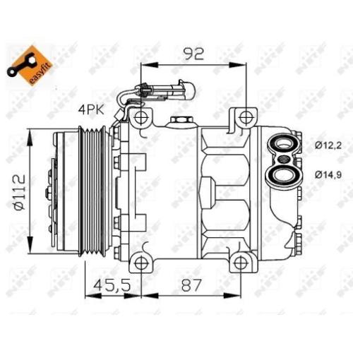 Compresor climatizare Citroen Jumper; Fiat Ducato Bus (244, 250, 290); Iveco Daily 3, Daily 4; Peugeot Boxer Nrf 32701