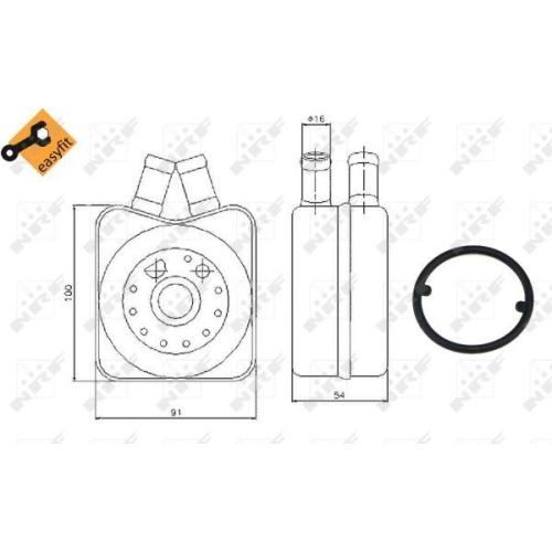 Radiator ulei motor, Termoflot Nrf 31304