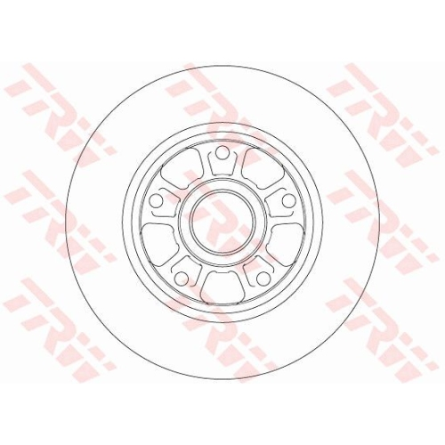 Disc frana Trw DF6182, parte montare : Punte spate