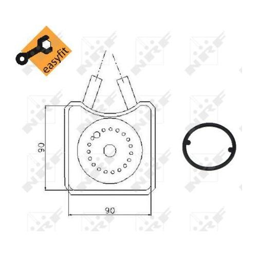Radiator ulei motor, Termoflot Nrf 31305