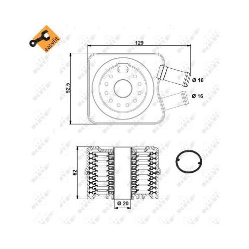Radiator ulei motor, Termoflot Nrf 31306