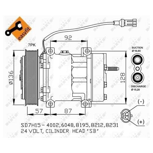 Compresor climatizare Daf Cf 85, Xf 105 Nrf 32477