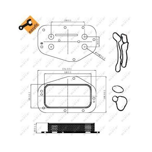 Radiator ulei motor, Termoflot Nrf 31314