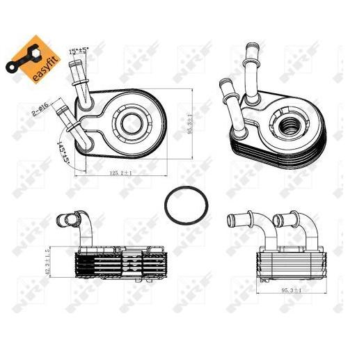 Radiator ulei motor, Termoflot Nrf 31321