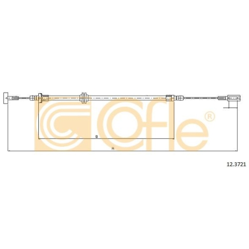 Cablu frana mana Iveco Daily 3, Daily 4 Cofle 123721, parte montare : stanga, dreapta, spate