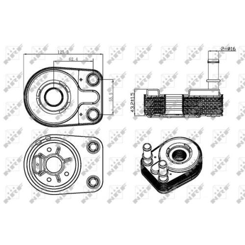 Radiator ulei motor, Termoflot Nrf 31323