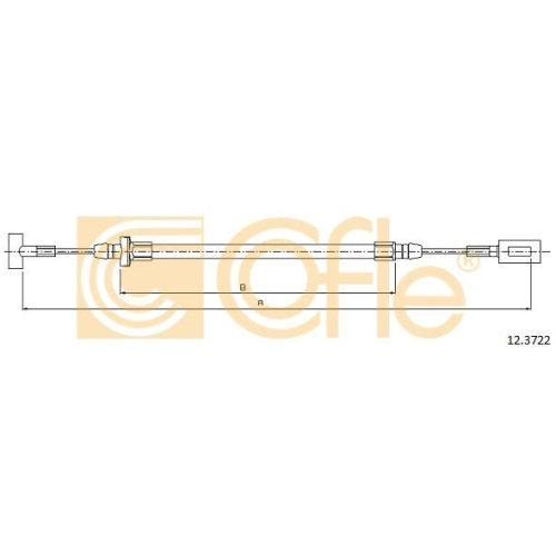 Cablu frana mana Iveco Daily 3, Daily 4 Cofle 123722, parte montare : stanga, dreapta, spate