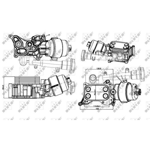 Radiator ulei motor, Termoflot Nrf 31326