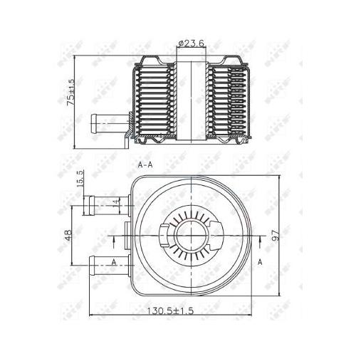 Radiator ulei motor, Termoflot Nrf 31735