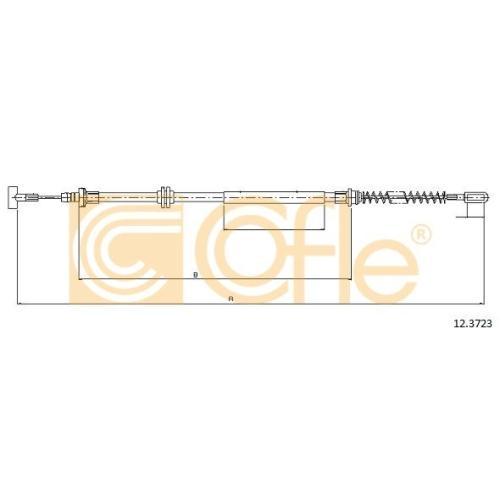 Cablu frana mana Iveco Daily 4 Daily 5, Daily 6 Cofle 123723, parte montare : stanga, dreapta, spate