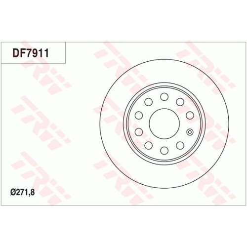 Disc frana Trw DF7911, parte montare : Punte spate