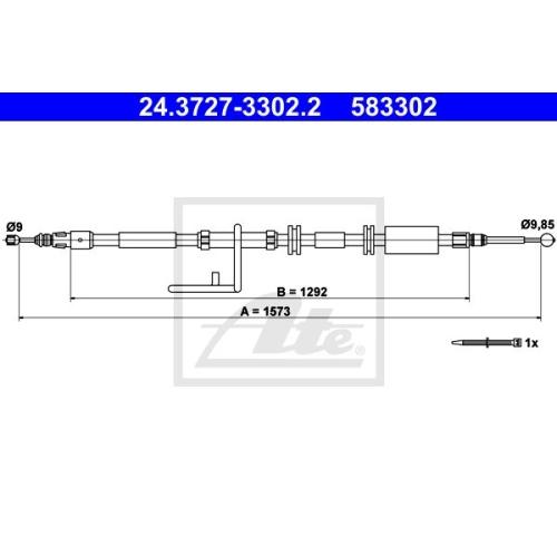 Cablu frana mana Land Rover Freelander 2 (Lf, Fa) Ate 24372733022, parte montare : dreapta, spate
