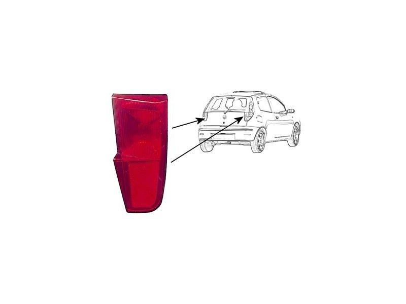 Catadioptru element reflectorizant Fiat Punto (188) Tyc 170062002, parte montare : Stanga, Spate