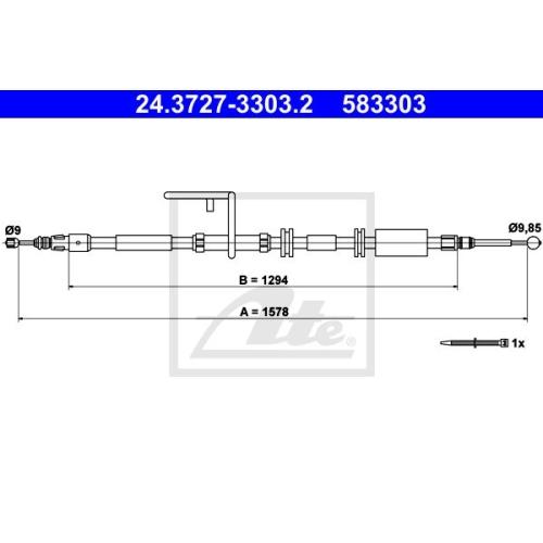 Cablu frana mana Land Rover Freelander 2 (Lf, Fa) Ate 24372733032, parte montare : stanga, spate