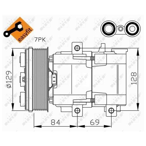 Compresor climatizare Ford Maverick, Mondeo 1 (Gbp), Mondeo 2 (Bap), Mondeo 3 (B5y), Transit Tourneo, Transit (Fd) Nrf 32447