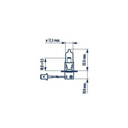 Bec Proiector H3 24v Pk22s 70w Narva NARVA 48700