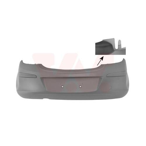 Bara protectie Opel Corsa D Van Wezel 3750546 parte montare : spate