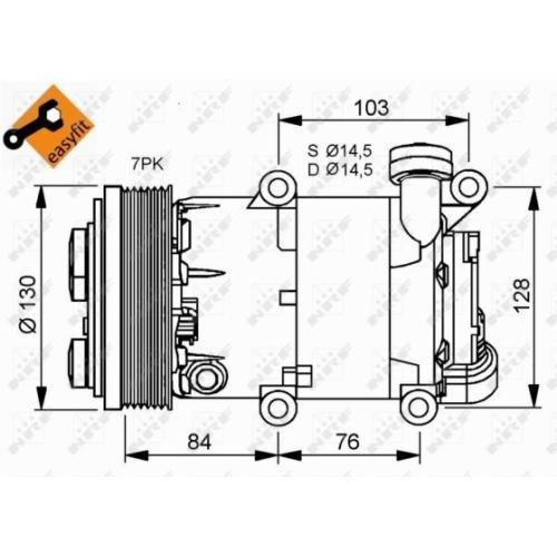 Compresor climatizare Ford Transit Nrf 32410