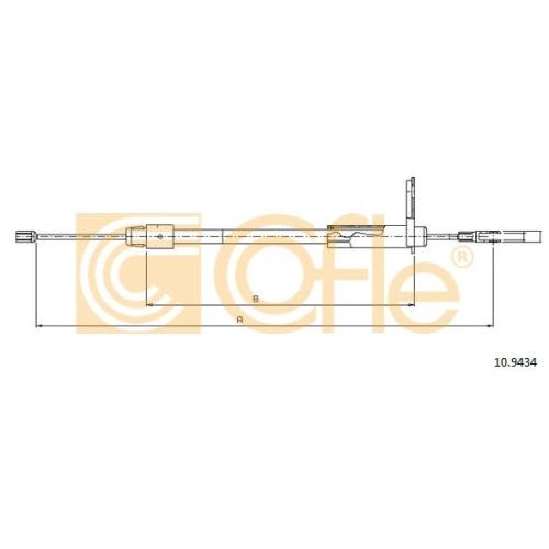 Cablu frana mana Mercedes-Benz C-Class (W202), C-Class (W203)), Clc-Class (Cl203), Clk (C209) Cofle 109434, parte montare : stanga, spate