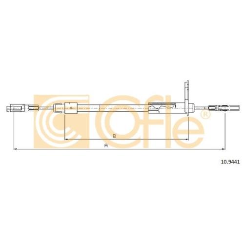 Cablu frana mana Mercedes-Benz E-Class (W210) Cofle 109441, parte montare : stanga, spate