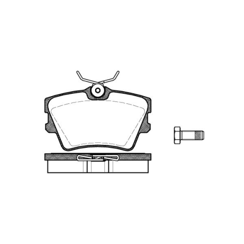 Set placute frana Remsa 059100, parte montare : Punte spate