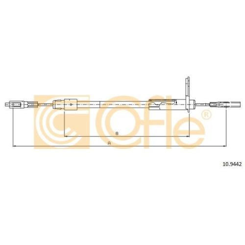 Cablu frana mana Mercedes-Benz E-Class (W210) Cofle 109442, parte montare : dreapta, spate