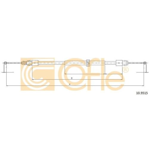 Cablu frana mana Mercedes-Benz G-Class (W463), Gl-Class (X164), M-Class (W164) Cofle 109515, parte montare : stanga, dreapta, spate