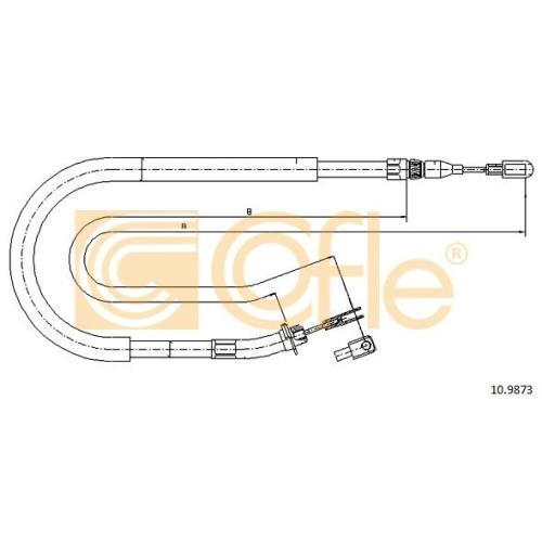 Cablu frana mana Mercedes-Benz Sprinter (901, 902, 903, 904); Vw Lt 28 2 Cofle 109873, parte montare : stanga, dreapta, spate