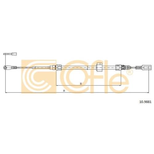 Cablu frana mana Mercedes-Benz Sprinter (901, 902, 903, 904); Vw Lt 28 2 Cofle 109881, parte montare : fata
