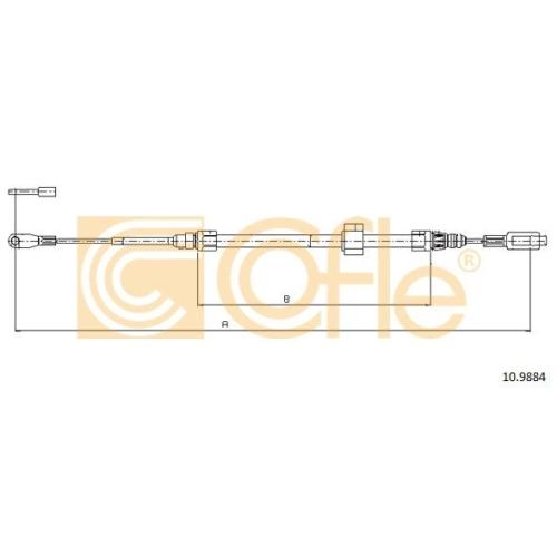 Cablu frana mana Mercedes-Benz Sprinter (901, 902, 903, 904); Vw Lt 28 2 Cofle 109884, parte montare : fata