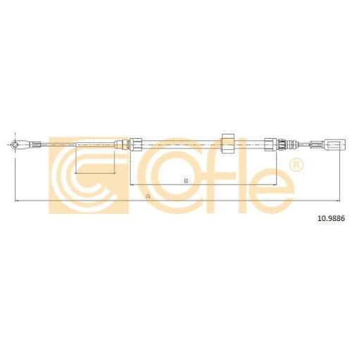 Cablu frana mana Mercedes-Benz Sprinter (901, 902, 903, 904); Vw Lt 28 2 Cofle 109886, parte montare : fata