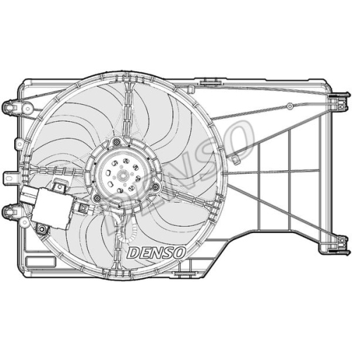 Ventilator radiator GMV Opel Corsa E 2015-, 405; 2 pini, DENSO 55B223W1X