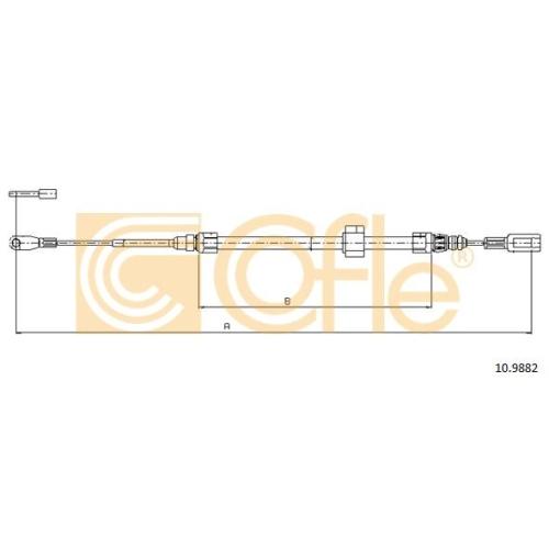 Cablu frana mana Mercedes-Benz Sprinter (901, 902, 903, 904, 906); Vw Lt 28 2 Cofle 109882, parte montare : fata