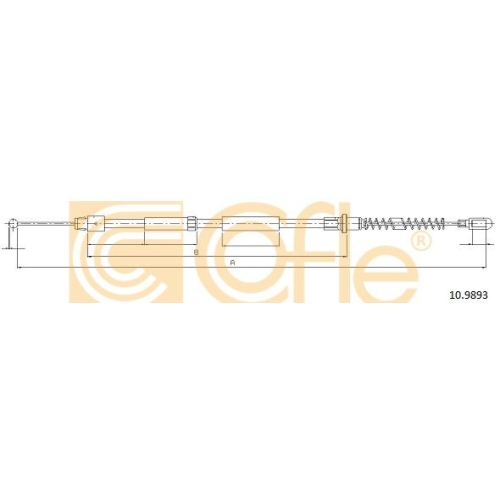 Cablu frana mana Mercedes-Benz Sprinter (906); Vw Crafter 30 Cofle 109893, parte montare : stanga, dreapta, spate