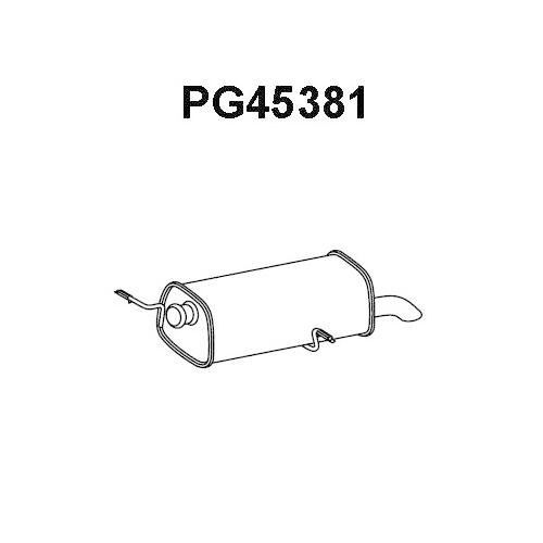 Toba esapament finala Citroen C4 1 (Lc); Peugeot 307 (3a/C), 308 (4a, 4c) Veneporte PG45381