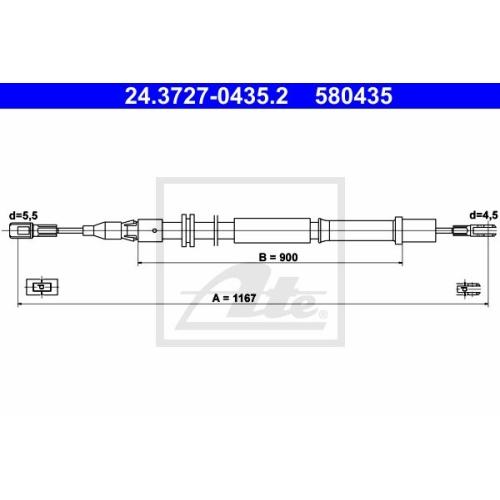 Cablu frana mana Mercedes-Benz Vito (W638) Ate 24372704352, parte montare : spate