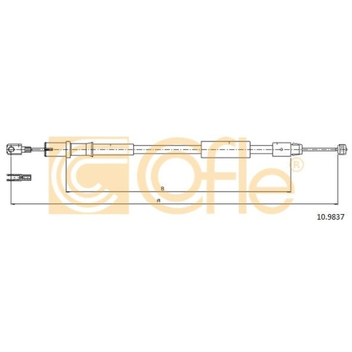 Cablu frana mana Mercedes-Benz Vito/ Viano (W639) Cofle 109837, parte montare : stanga, spate