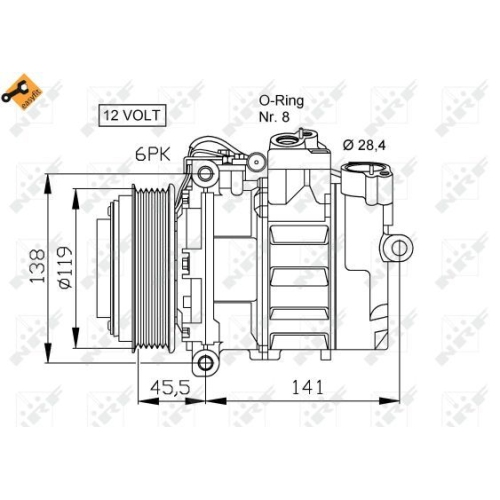 Compresor climatizare Nrf 32053