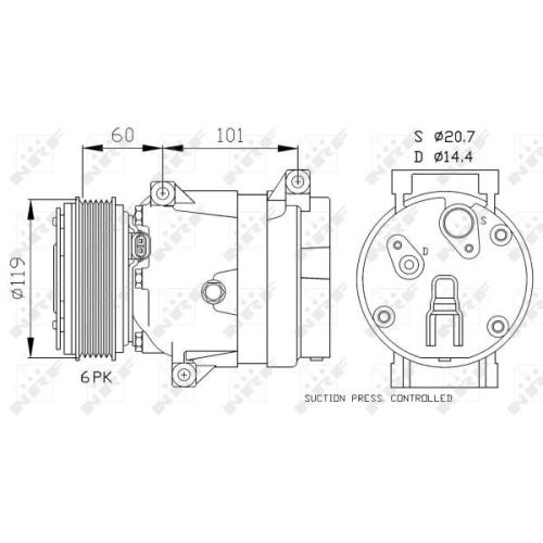 Compresor climatizare Nrf 32102