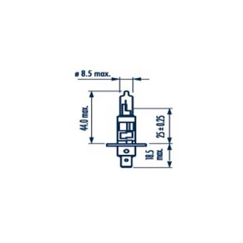 Bec Far H1 55w P14.5s Rp50+12v Narva NARVA 48334