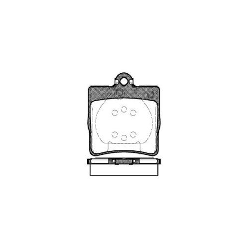 Set placute frana Remsa 067800, parte montare : Punte spate