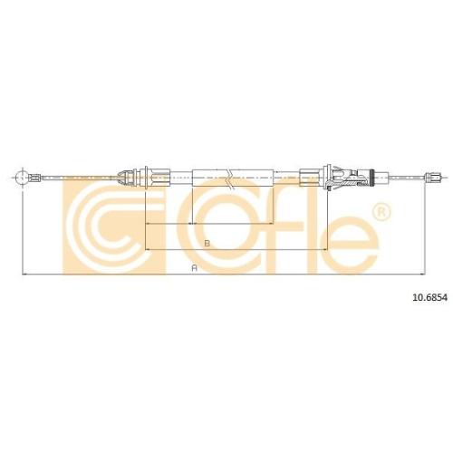 Cablu frana mana Nissan Interstar Bus (X70); Opel Movano (J9); Renault Master 2 (Jd) Cofle 106854, parte montare : stanga, dreapta, spate
