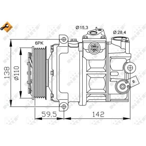 Compresor climatizare Nrf 32147