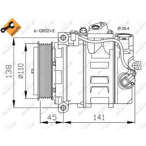 Compresor climatizare Nrf 32214