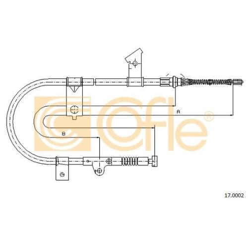 Cablu frana mana Nissan Micra 2 (K11) Cofle 170002, parte montare : stanga, spate
