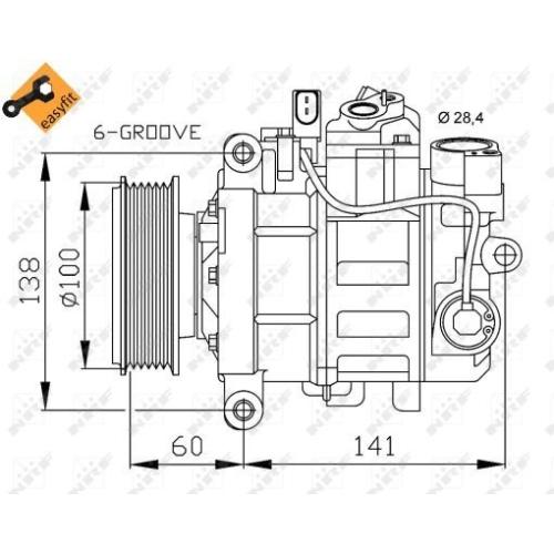 Compresor climatizare Nrf 32263
