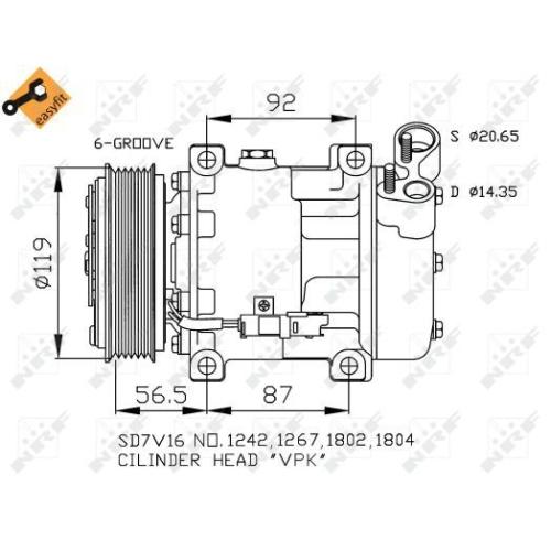 Compresor climatizare Nrf 32270